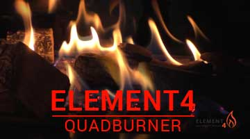 Kominki Element4 QuadBurner